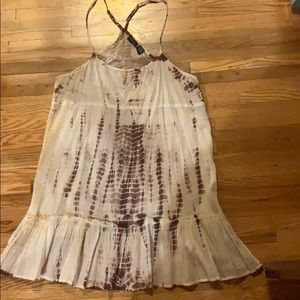Tie-dye dress or swimsuit cover-up
